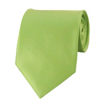 Pear Green Solid Color Ties Mens Neckties