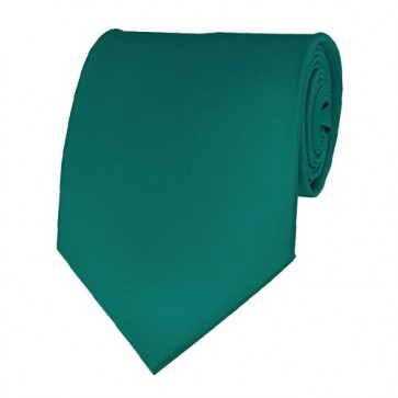 Teal Green Solid Color Ties Mens Neckties
