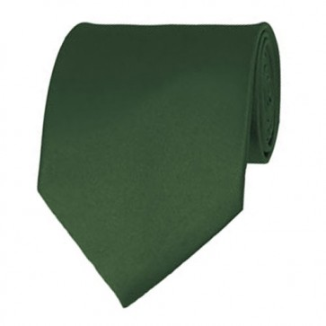 Dark Olive Solid Color Ties Mens Neckties