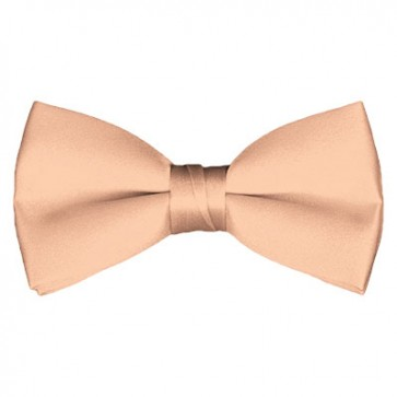 Solid Light Salmon Bow Tie Pre-tied Satin Mens Ties