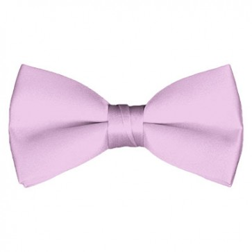 Solid Light Pink Bow Tie Pre-tied Satin Mens Ties