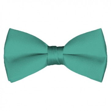 Solid Mint Green Bow Tie Pre-tied Satin Mens Ties