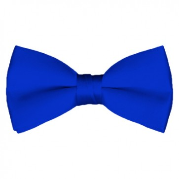 Solid Royal Blue Bow Tie Pre-tied Satin Mens Ties