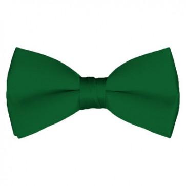 Solid Kelly Green Bow Tie Pre-tied Satin Mens Ties