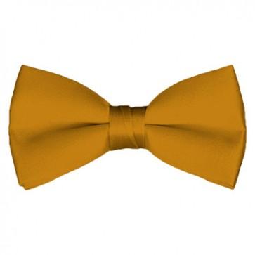 Solid Gold Bar Bow Tie Pre-tied Satin Mens Ties