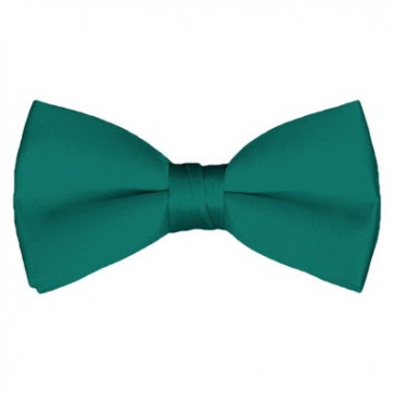Solid Teal Green Bow Tie Pre-tied Satin Mens Ties