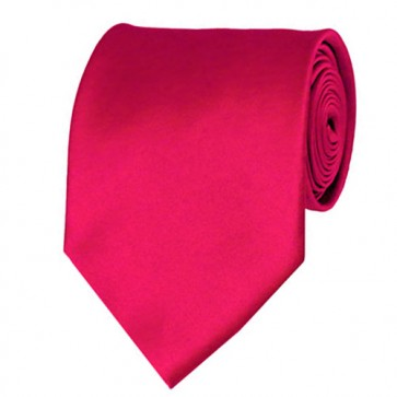 Fuchsia Solid Color Ties Mens Neckties