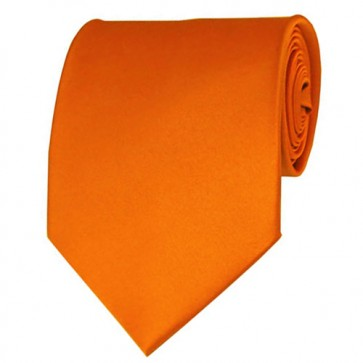 Orange Solid Color Ties Mens Neckties