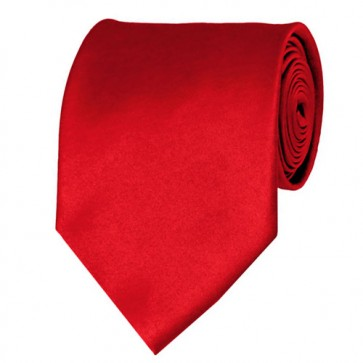 Red Solid Color Ties Mens Neckties