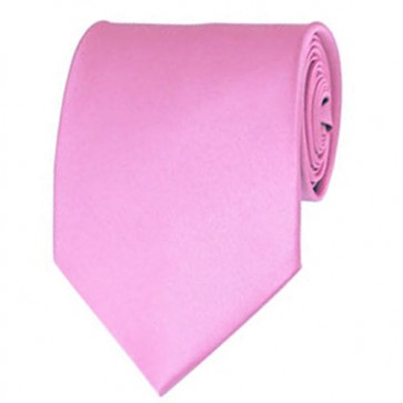 Pink Solid Color Ties Mens Neckties