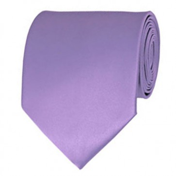 Lavender Solid Color Ties Mens Neckties