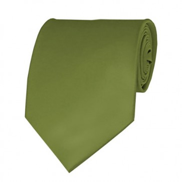Olive Solid Color Ties Mens Neckties