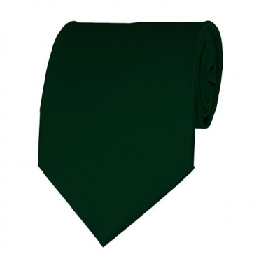 Hunter Green Solid Color Ties Mens Neckties