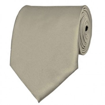 Beige Solid Color Ties Mens Neckties