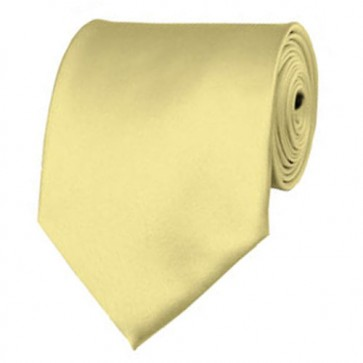 Baby Yellow Solid Color Ties Mens Neckties