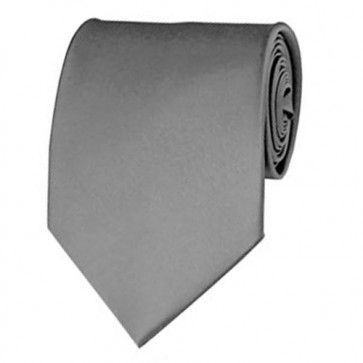 Silver Solid Color Ties Mens Neckties
