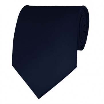Navy Solid Color Ties Mens Neckties