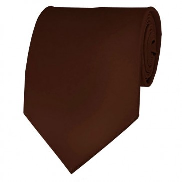 Brown Solid Color Ties Mens Neckties