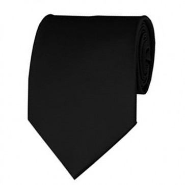 Black Solid Color Ties Mens Neckties