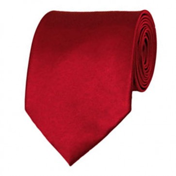 Crimson Solid Color Ties Mens Neckties