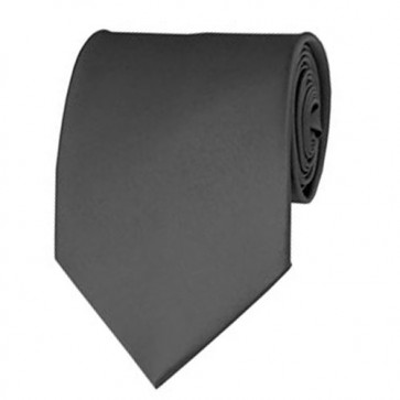 Charcoal Solid Color Ties Mens Neckties