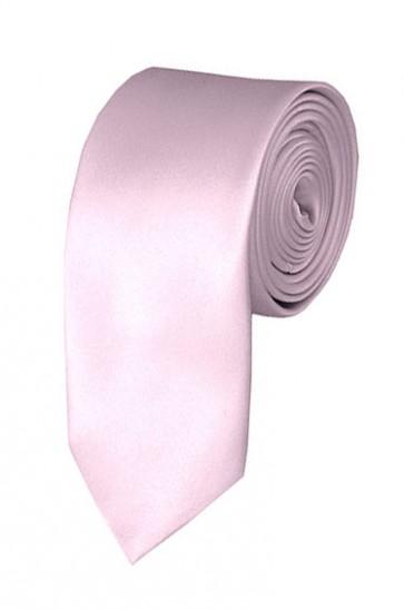 Skinny Light Pink Ties Solid Color 2 Inch Tie Mens Neckties