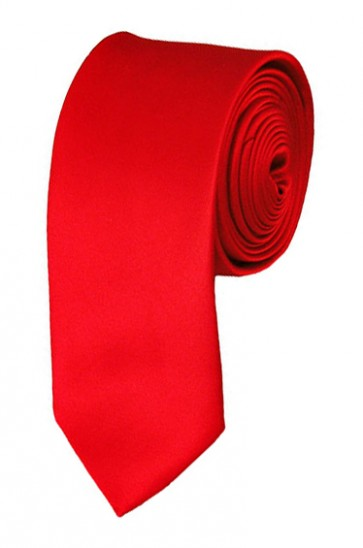 Red Boys Tie 48 Inch Necktie Kids Neckties