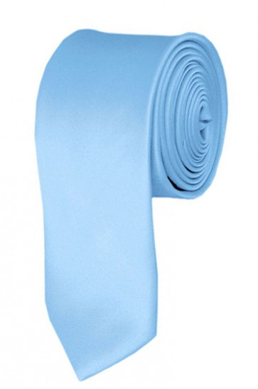 Skinny Powder Blue Ties Solid Color 2 Inch Tie Mens Neckties