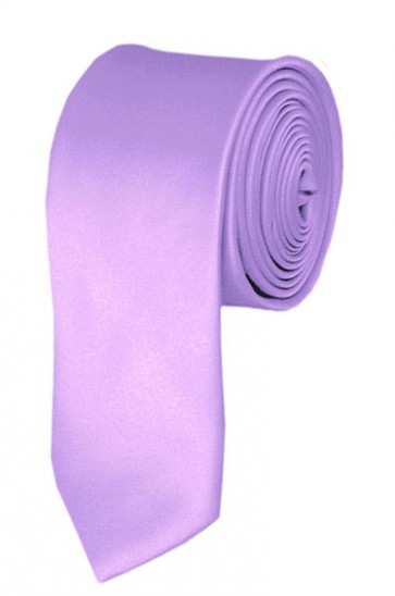 Skinny Lavender Ties Solid Color 2 Inch Tie Mens Neckties