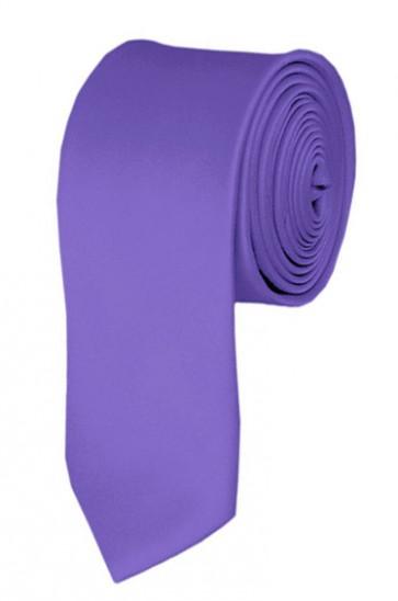 Skinny Purple Solid Color 2 Inch Ties Mens Neckties