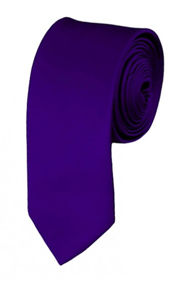 Skinny Dark Purple Ties Solid Color 2 Inch Tie Mens Neckties