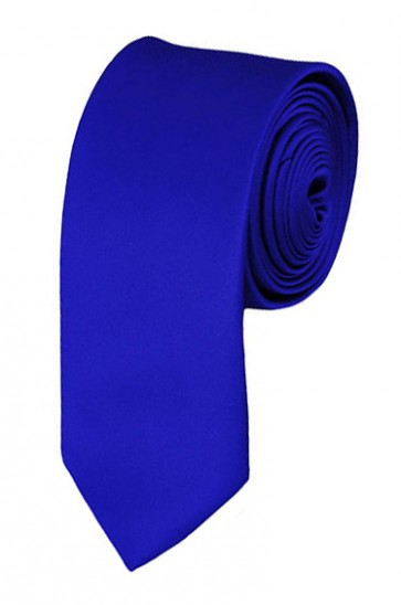 Skinny Royal Blue Ties Solid Color 2 Inch Tie Mens Neckties