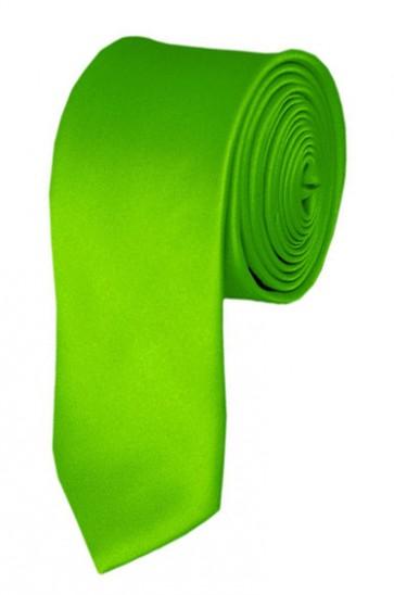 Skinny Lime Green Ties Solid Color 2 Inch Tie Mens Neckties