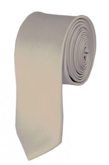 Skinny Beige Ties Solid Color 2 Inch Tie Mens Neckties