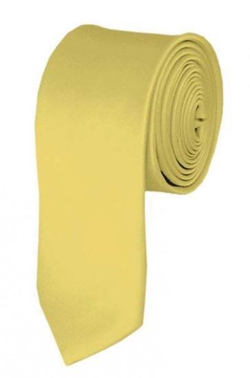 Light Yellow Boys Tie 48 Inch Necktie Kids Neckties
