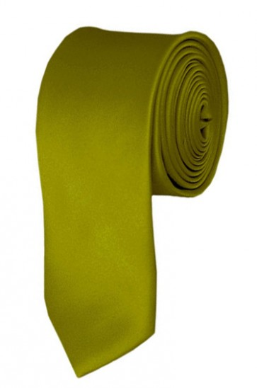 Skinny Mustard Ties Solid Color 2 Inch Tie Mens Neckties