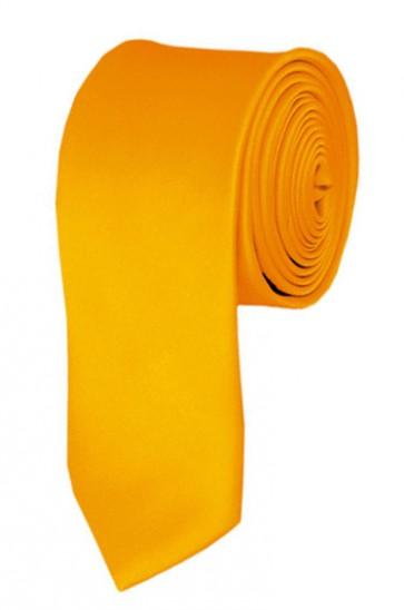 Skinny Golden Yellow Ties Solid Color 2 Inch Tie Mens Neckties