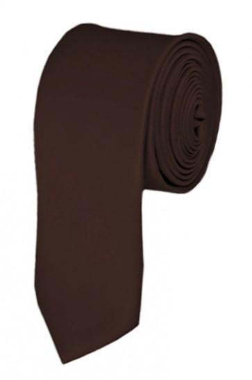Skinny Brown Ties Solid Color 2 Inch Tie Mens Neckties