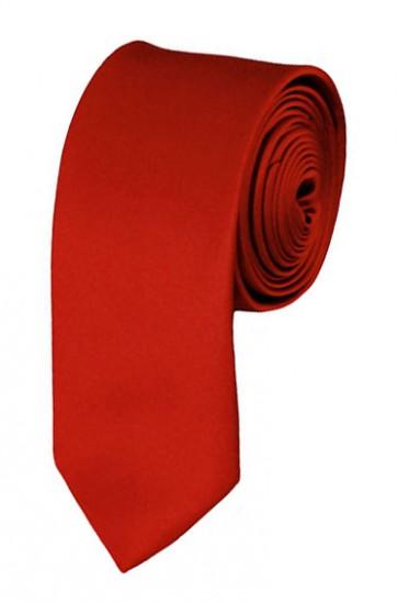 Skinny Rust Ties Solid Color 2 Inch Tie Mens Neckties