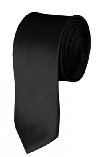 Skinny Black Ties Solid Color 2 Inch Tie Mens Neckties