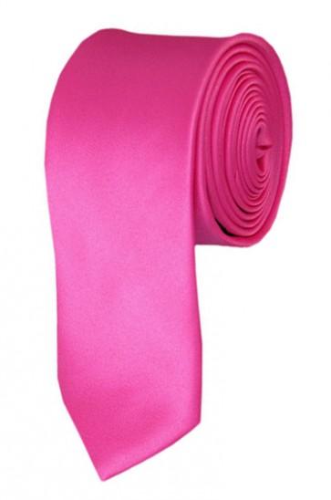 Skinny Hot Pink Ties Solid Color 2 Inch Tie Mens Neckties