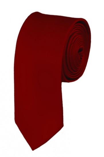 Skinny Burgundy Solid Ties Color 2 Inch Tie Mens Neckties