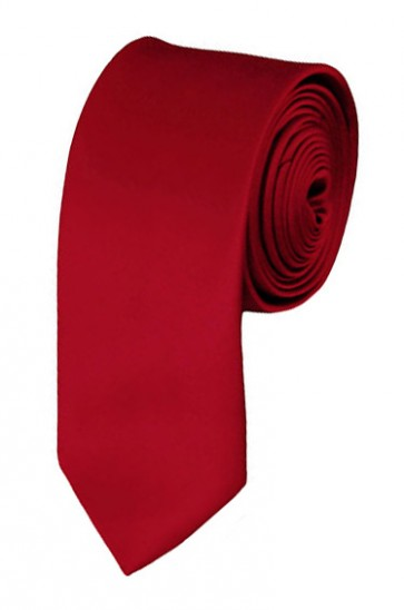 Skinny Crimson Ties Solid Color 2 Inch Tie Mens Neckties