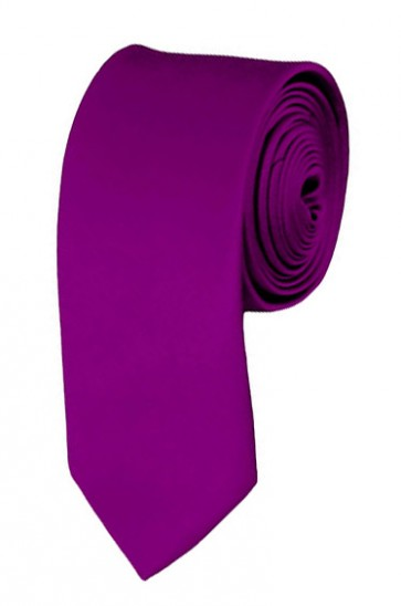 Skinny Violet Ties Solid Color 2 Inch Tie Mens Neckties