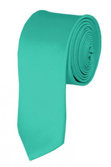 Skinny Aqua Green Ties Solid Color 2 Inch Tie Mens Neckties