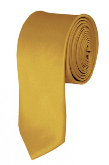 Skinny Honey Gold Ties Solid Color 2 Inch Tie Mens Neckties