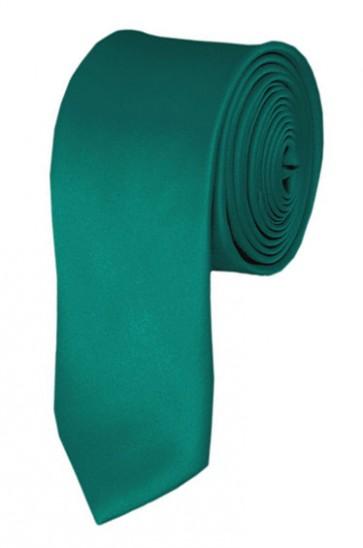 Skinny Teal Green Ties Solid Color 2 Inch Tie Mens Neckties