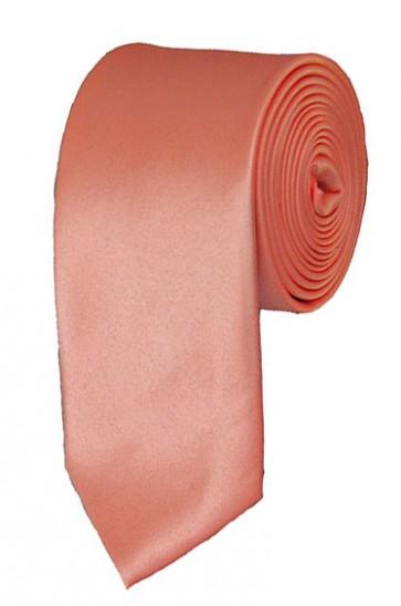 Skinny Palm Coast Coral Ties Solid Color 2 Inch Tie Mens Neckties