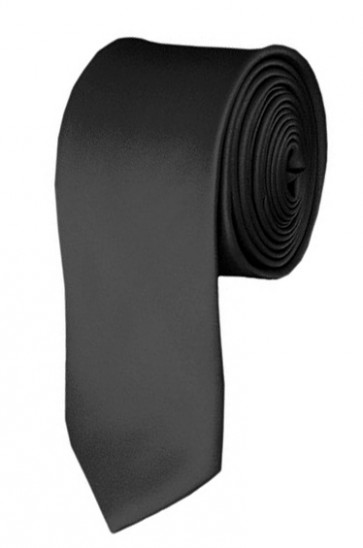 Skinny Charcoal Ties Solid Color 2 Inch Tie Mens Neckties