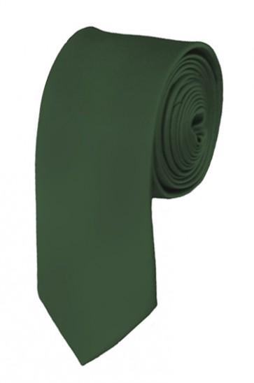 Skinny Dark Olive Ties Solid Color 2 Inch Tie Mens Neckties